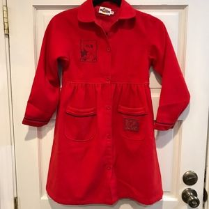 Disney Mickey For Kids Girls Red Minnie Mouse Coat